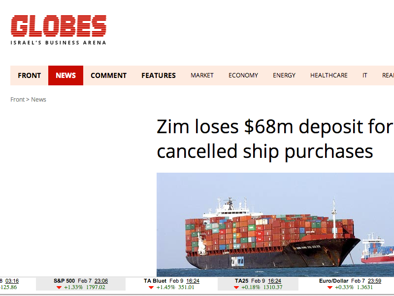 "Ship Owner ""Zim"" Needed ""Forward Looking Business Radar"" For New-Building Purchases"